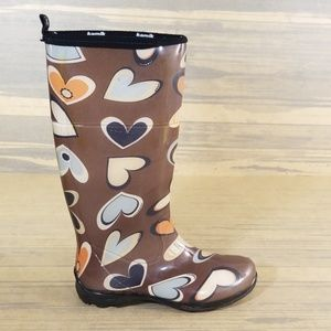 Kamik Heart Design Waterproof Rain Boots